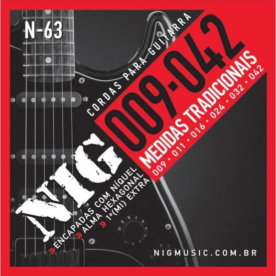 Encordoamento Para Guitarra 009 N63 NIG (12832)