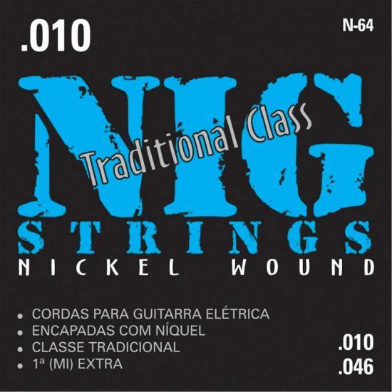 Encordoamento Para Guitarra 010 N64 NIG (12834)