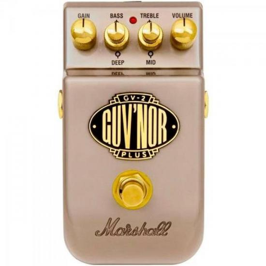 Pedal para Guitarra GV-2 Guv'nor Plus Overdrive Prata MARSHALL