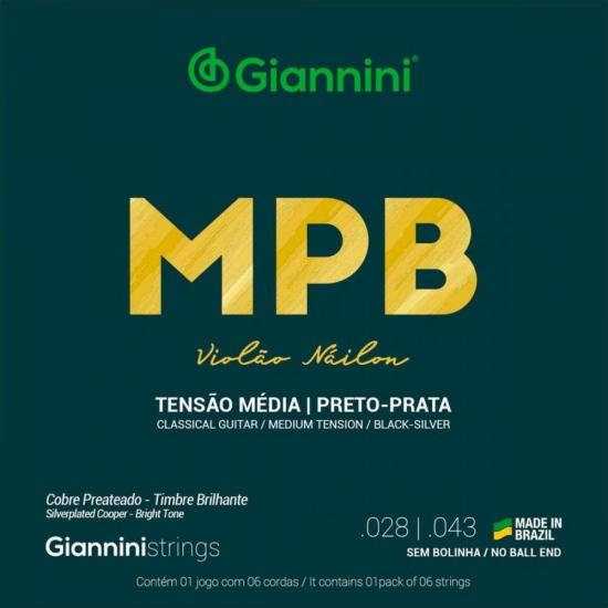Encordoamento para Violão Nylon Médio GENWBS Série MPB GIANNINI
