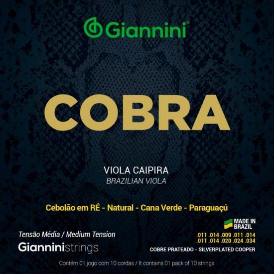 Encordoamento Para Viola Aço Média GESVM Série Cobra GIANNINI (15101)