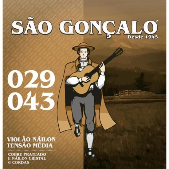Encordoamento de Nylon Cristal Para Violão SÃO GONÇALO