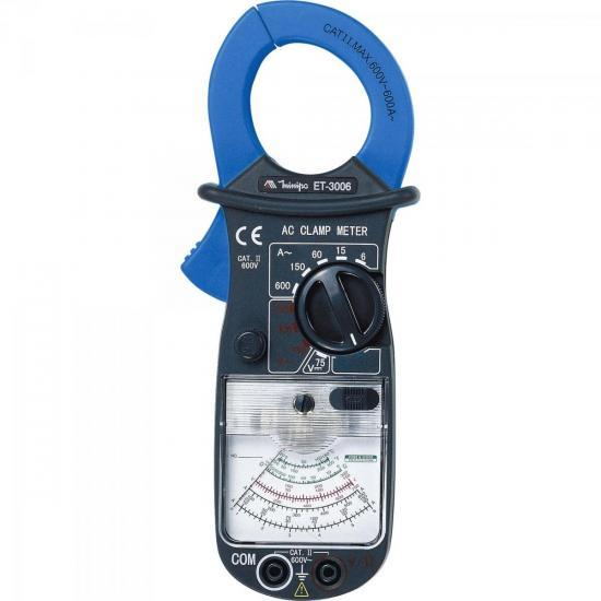 Alicate Amperímetro Analógico ET-3006 Azul/Cinza MINIPA