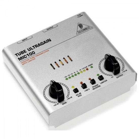 Pré Amplificador Mic100 Tube Ultragain 20dB BEHRINGER
