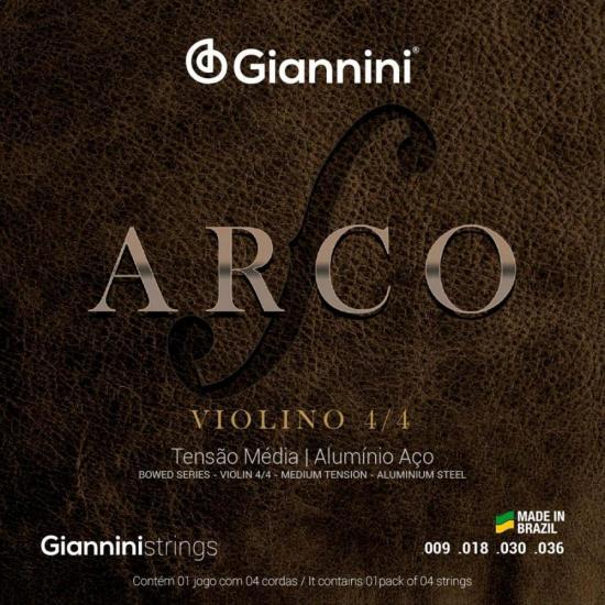 Encordoamento para Violino Médio Série Arco GEAVVA GIANNINI