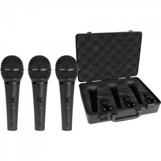Kit Com 3 Microfones XM1800S Preto BEHRINGER