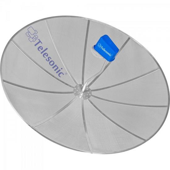 Kit com 4 Antenas Parabólicas Para Laje 1,90m Banda C CROSS TELESONIC (23894)
