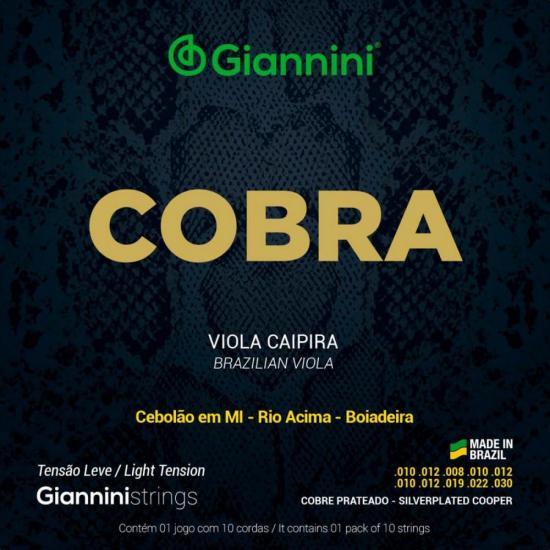 Encordoamento para Viola Aço Leve GESVL Série Cobra GIANNINI (24152)
