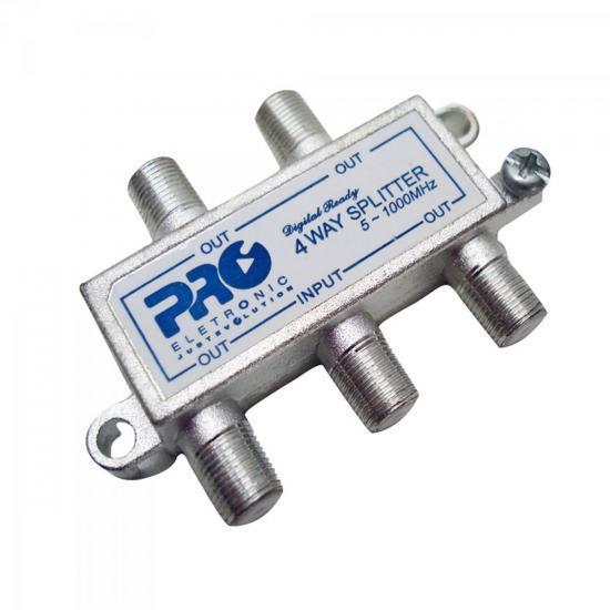 Divisor Antena VHF/UHF/CATV 1/4 PQDV-1024 PROELETRONIC