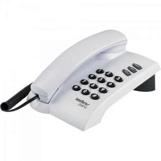 Telefone com Fio Pleno com Chave Cinza Ártico INTELBRAS