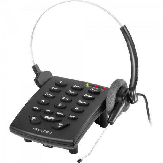 Telefone Headset STILE S8010C Black C FELITRON (27548)