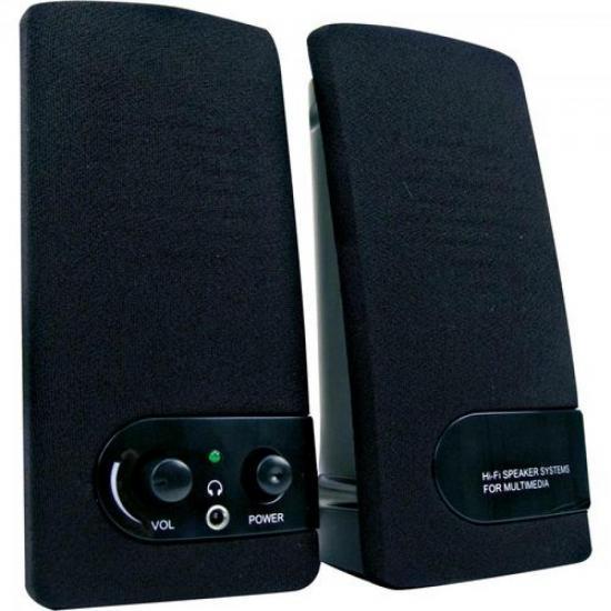 Caixa Multimídia 2.0 USB 1,5W RMS SP202 Preto COLETEK (28305)