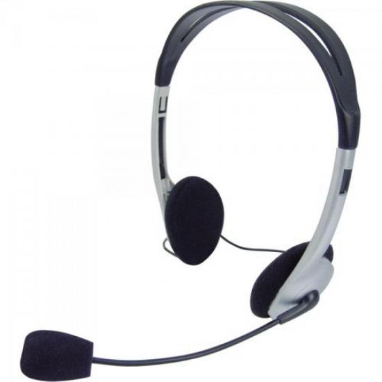 Headset Voicer Light 662040BS Preto/Prata OMEGA