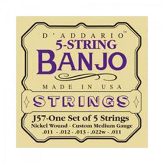 Encordoamento Para Banjo J57 5 Cordas Níquel 0.11 D'ADDARIO