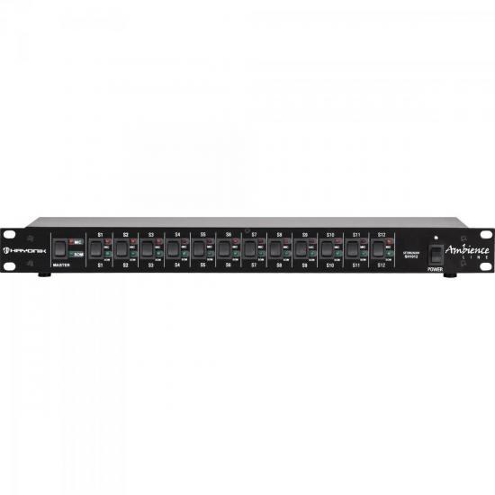 Setorizador de Áudio SH-1012 AMBIENCE LINE Preto (30315)