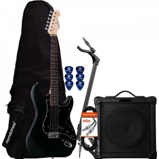 Kit Guitarra Com Captadores Humbucker G-102 GIANNINI + Cubo + Afinador + Suporte + Acessórios