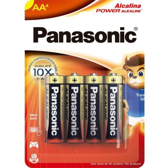 Pilha Alcalina AA 1,5V LR6XAB/4B192 C/4 PANASONIC