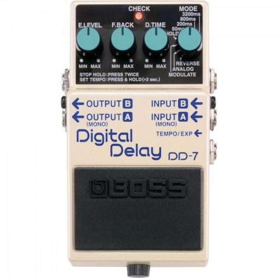 Pedal Digital Delay DD7 Branco BOSS