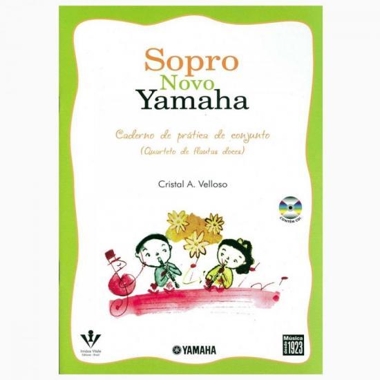 Método Sopro Novo YAMAHA Conjunto FLAUTA DOCE SOPRANO (33599)
