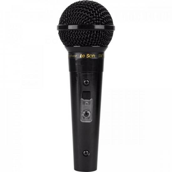 Microfone Profissional Com Fio Cardióide Preto Metálico SM58B LESON