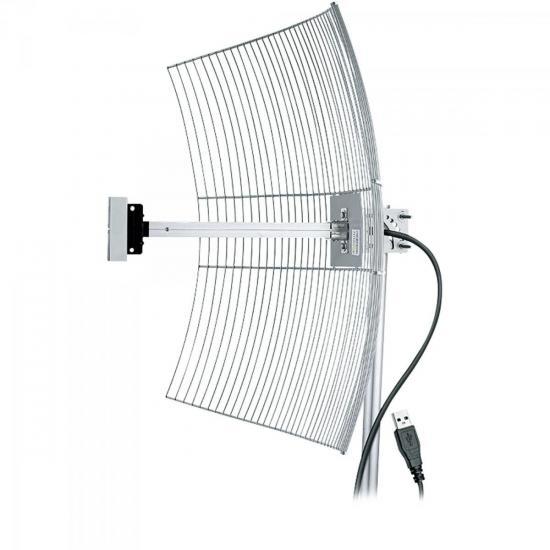 Antena Parabólica Para Internet 25dBi USB-2510U AQUÁRIO