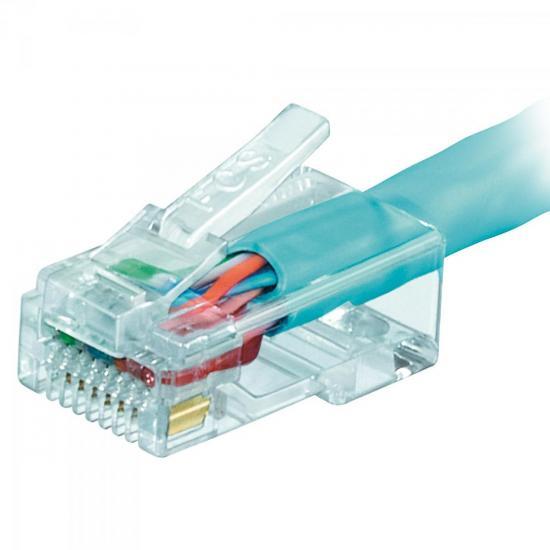 Patch Cord U/UTP CAT5e CMX 1,5m T568A Azul SOHOPLUS