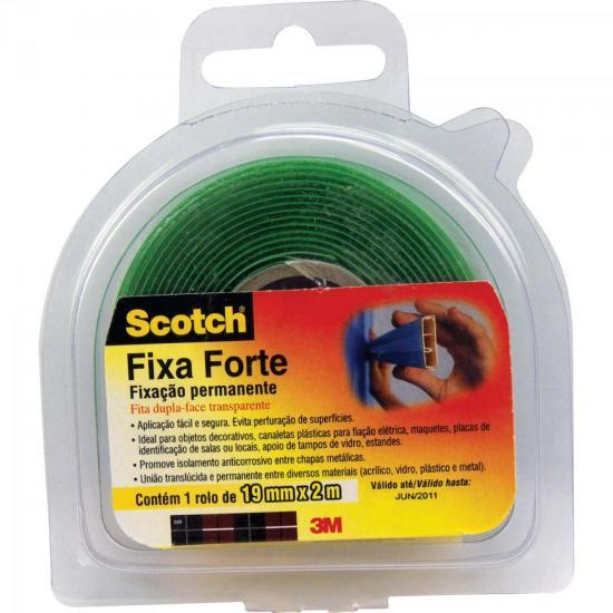 Fita Dupla Face 19mm x 2m FIXA FORTE Transparente 3M