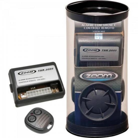 Alarme Completo 2 Controles e Sirene Bitonal TSR2000 ZOOM TSR (34567)