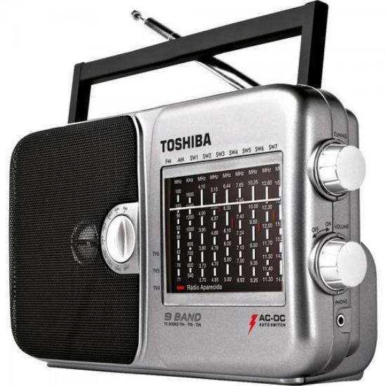 Rádio Portátil AM/FM 9 Faixas TR949 SEMP TOSHIBA (35567)