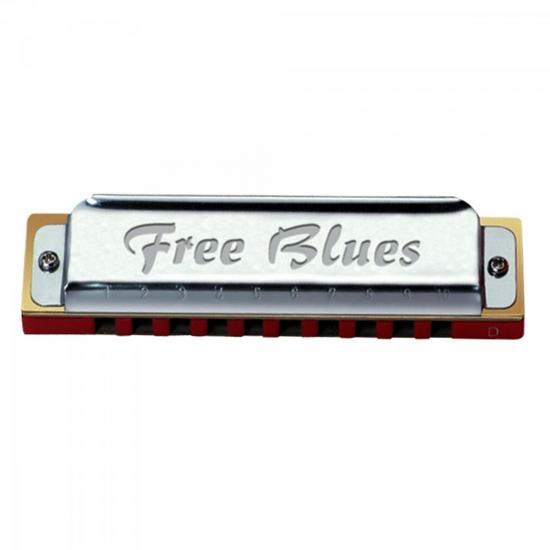Gaita Diatônica em Bb 20 Vozes FREE BLUES HERING