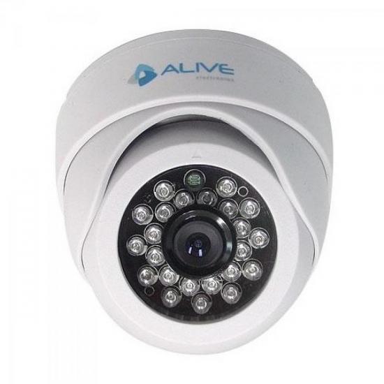 Câmera Mini Dome Infravermelho 20M CCD Colorido SHARP AL-MDIR110 ALIVE (36927)