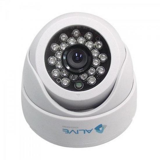 Câmera Mini Dome Infravermelho 20M CCD Colorido SONY AL-MDIR 120 ALIVE (36928)