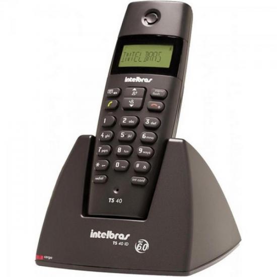 Telefone S/Fio Dect 6.0 1,9GHz TS40 ID Preto INTELBRAS