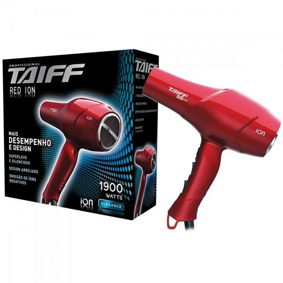 Secador de Cabelo 1900W 220V RED ÍON Vermelho TAIFF