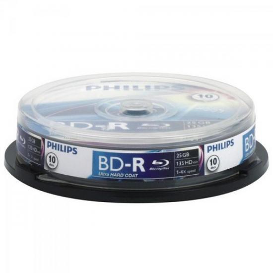 Mídia Blu-Ray BD-R 4x 25GB PHILIPS (37683)