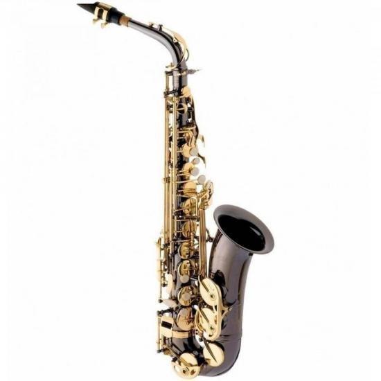 Saxofone Alto Eb SA500-BG Preto Onix EAGLE