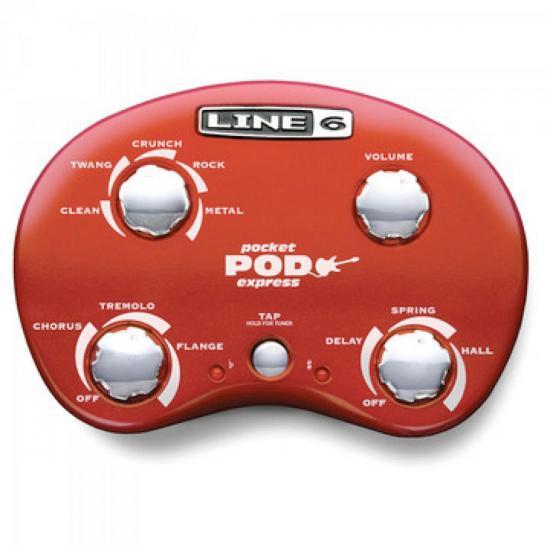 Pedal para Guitarra POCKETPOD EXPRESS Vermelho LINE6 (37989)