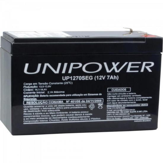 Bateria Selada UP1270SEG 12V/7A UNIPOWER