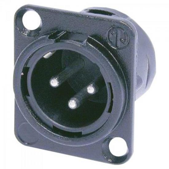 Conector XLR Macho Plástico NC3MPP 3 Polos NEUTRIK