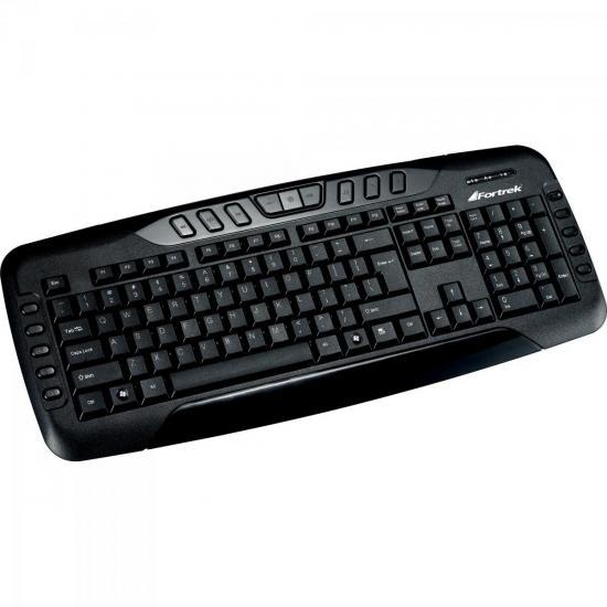 Teclado Multimídia USB ABNT2 MK-602BK Preto FORTREK