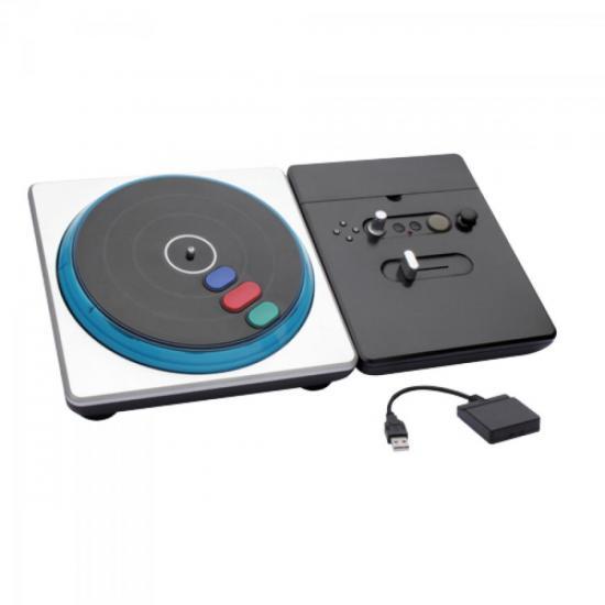 DJ Hero sem Fio para PS2/PS3 PS4702 Preto e Prata INTEGRIS (43756)