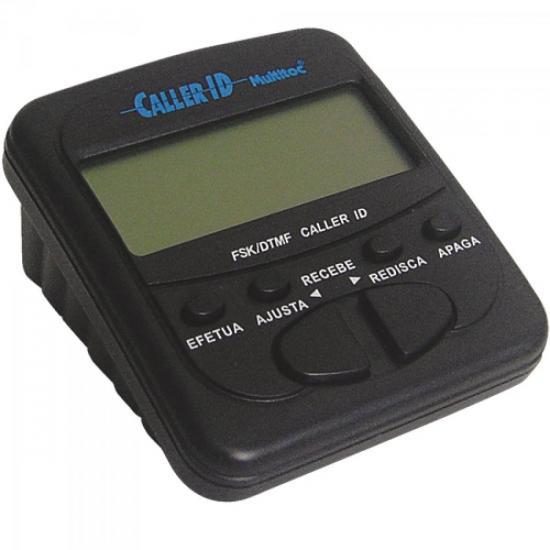 Identificador de Chamadas Compacto MUID0030 Preto MULTITOC (43812)