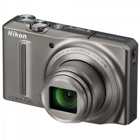 Câmera Digital 12.1MP Coolpix S9100 Prata NIKON (43986)