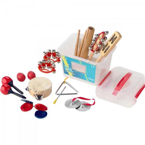 Kit Percussão Infantil + Caixa Plástica CPK02 STAGG (44724)