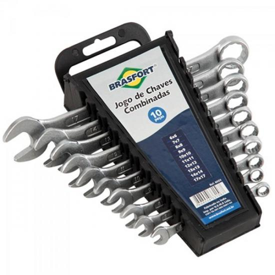 Kit Chave Combinada com 10 Chaves de 6 a 17mm BRASFORT