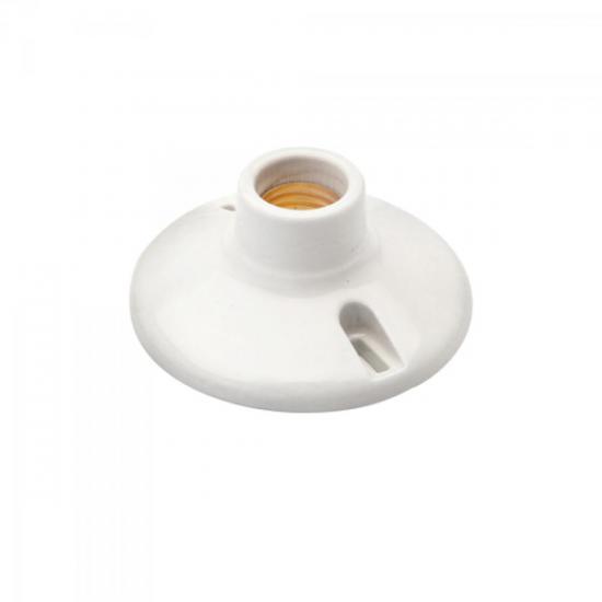 Soquete de Porcelana E27 Branco BRASFORT