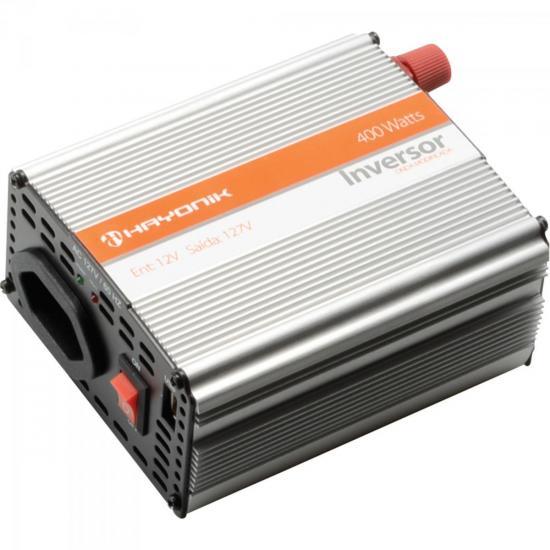 Inversor de Onda Modificada 12VDC/127V USB 400W HAYONIK