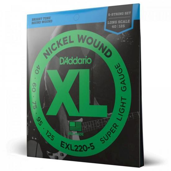 Encordoamento Para Contrabaixo EXL220 5 Cordas 0.40 D'ADDARIO