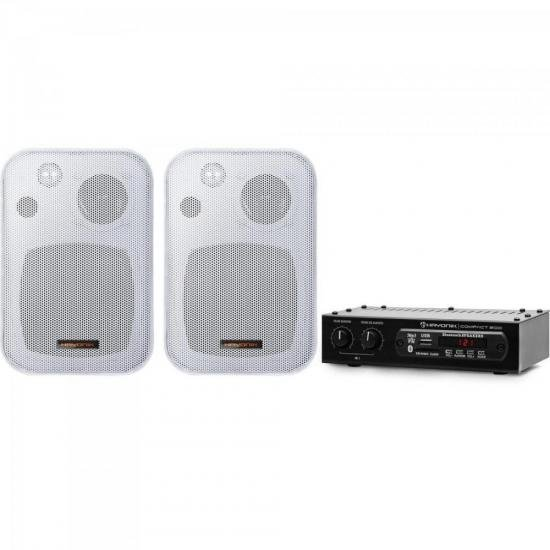 Kit Amplificador COMPACT 200 + 2 Caixas Ambience Line MSB406W BR HAYONIK