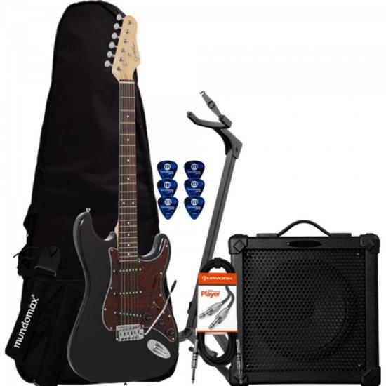 Kit Guitarra G-100 C/Escudo Tortoise GIANNINI + Cubo + Acessórios